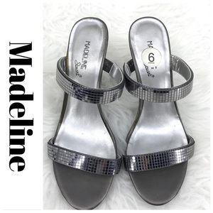 💕SALE💕 Madeline Stuart Silver Heels